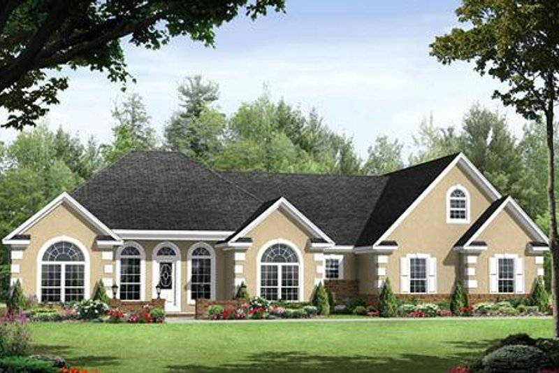 Mediterranean Exterior - Front Elevation Plan #21-241
