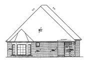 European Style House Plan - 3 Beds 2.5 Baths 1806 Sq/Ft Plan #310-681 Exterior - Rear Elevation