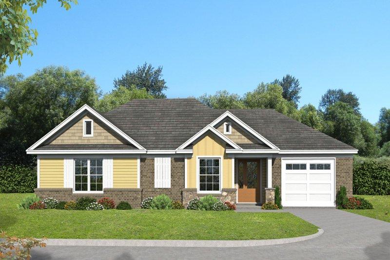 Home Plan - Craftsman Exterior - Front Elevation Plan #932-202