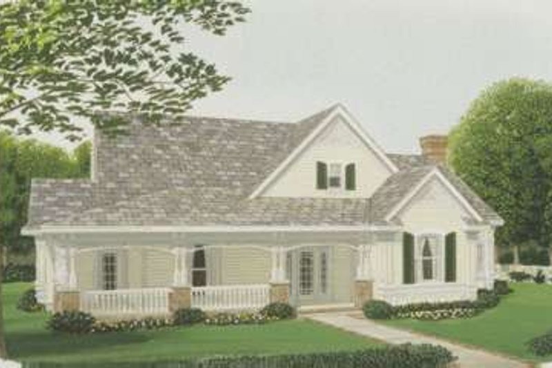 Country Exterior - Front Elevation Plan #410-275