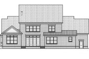 Colonial Style House Plan - 4 Beds 4 Baths 3552 Sq/Ft Plan #413-810 Exterior - Rear Elevation