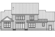 Dream House Plan - Colonial Exterior - Rear Elevation Plan #413-810