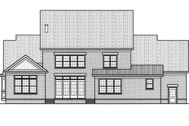 Colonial Exterior - Rear Elevation Plan #413-810 - Houseplans.com