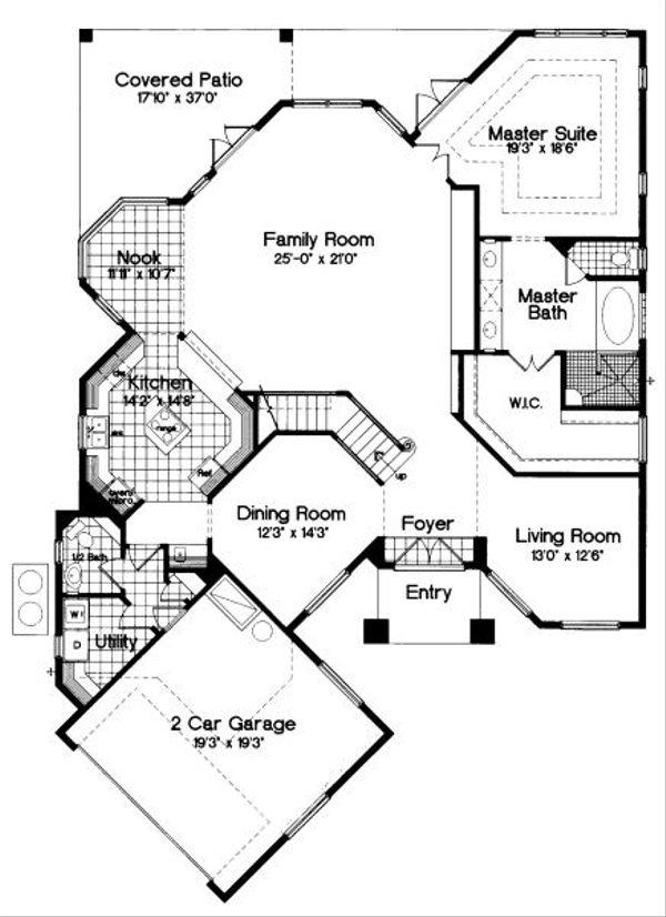 European Floor Plan - Main Floor Plan Plan #417-336
