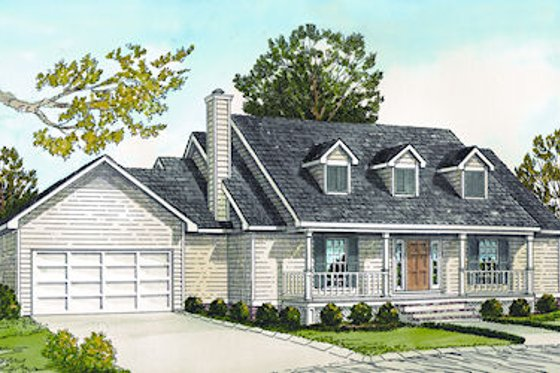 Farmhouse Exterior - Front Elevation Plan #16-179