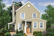 House Plan Design - Colonial Exterior - Rear Elevation Plan #48-976