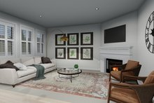 Home Plan - Victorian Interior - Family Room Plan #1060-51