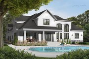 Farmhouse Style House Plan - 4 Beds 3.5 Baths 3136 Sq/Ft Plan #23-2693 Exterior - Rear Elevation