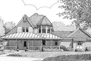 Victorian Style House Plan - 3 Beds 2.5 Baths 1986 Sq/Ft Plan #410-392 Exterior - Front Elevation