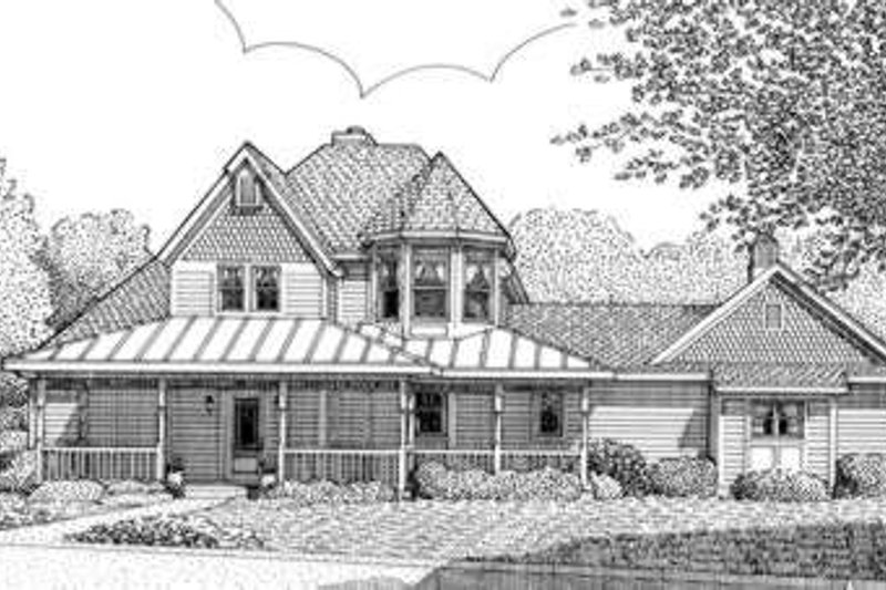 Victorian Exterior - Front Elevation Plan #410-392