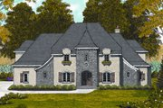 European Style House Plan - 5 Beds 4 Baths 3495 Sq/Ft Plan #413-809 Exterior - Front Elevation