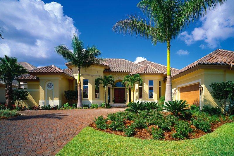 House Plan Design - Mediterranean Exterior - Front Elevation Plan #930-189