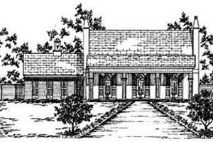 Architectural House Design - Traditional Exterior - Front Elevation Plan #36-138