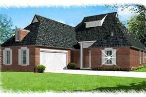 European Exterior - Front Elevation Plan #15-283