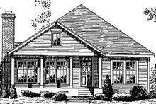 Dream House Plan - Country Exterior - Front Elevation Plan #410-179