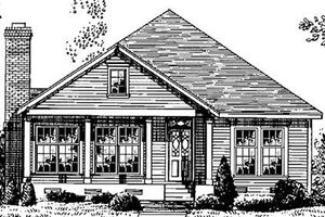 Country Exterior - Front Elevation Plan #410-179