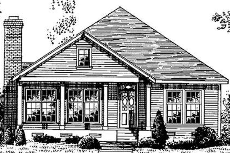 Country Style House Plan - 3 Beds 2 Baths 1581 Sq/Ft Plan #410-179 Exterior - Front Elevation