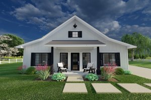 Home Plan - Farmhouse Exterior - Front Elevation Plan #126-234