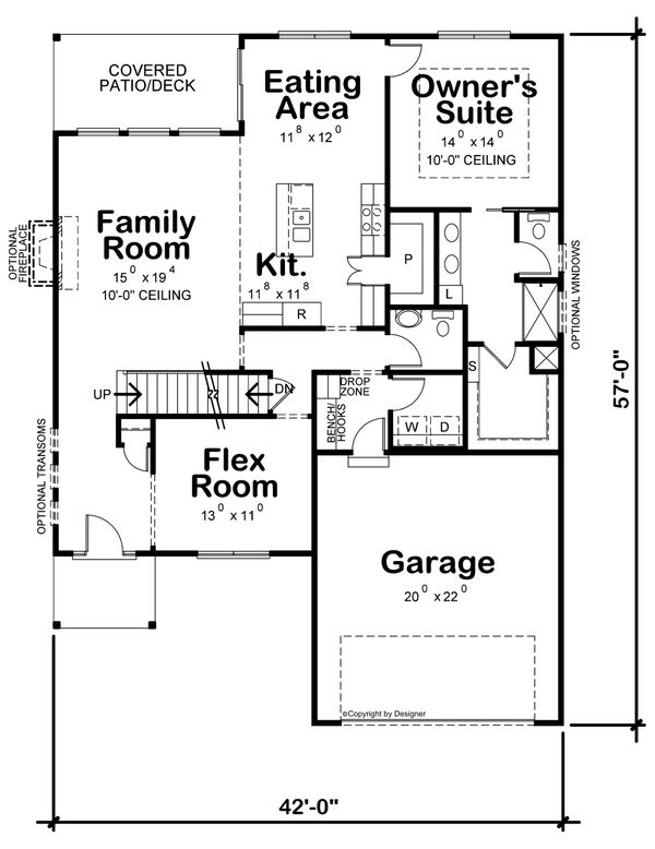 House Plan Design - Contemporary Floor Plan - Main Floor Plan #20-2430