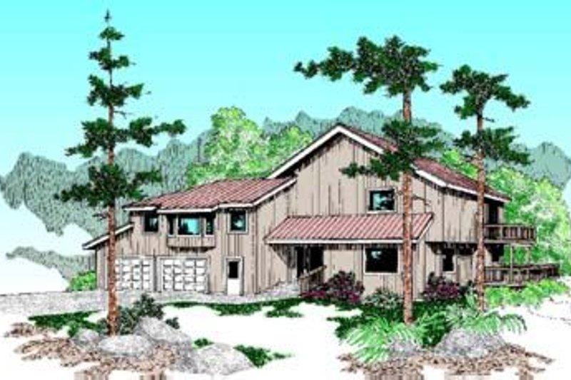 Dream House Plan - Bungalow Exterior - Front Elevation Plan #60-358