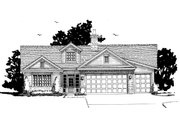 Cottage Style House Plan - 3 Beds 3.5 Baths 2090 Sq/Ft Plan #942-42 Exterior - Front Elevation