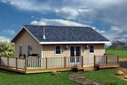 Ranch Style House Plan - 2 Beds 1 Baths 576 Sq/Ft Plan #312-755 Exterior - Front Elevation