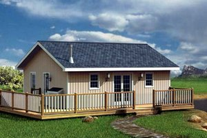 Ranch Exterior - Front Elevation Plan #312-755