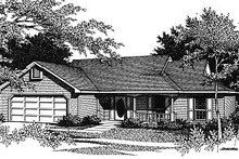 Ranch Exterior - Front Elevation Plan #14-142