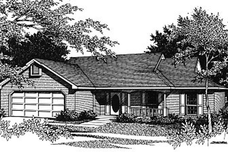 Ranch Exterior - Front Elevation Plan #14-142 - Houseplans.com
