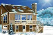 Modern Style House Plan - 4 Beds 1 Baths 1313 Sq/Ft Plan #25-2290 Exterior - Front Elevation
