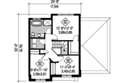 Contemporary Style House Plan - 3 Beds 1 Baths 1464 Sq/Ft Plan #25-4313