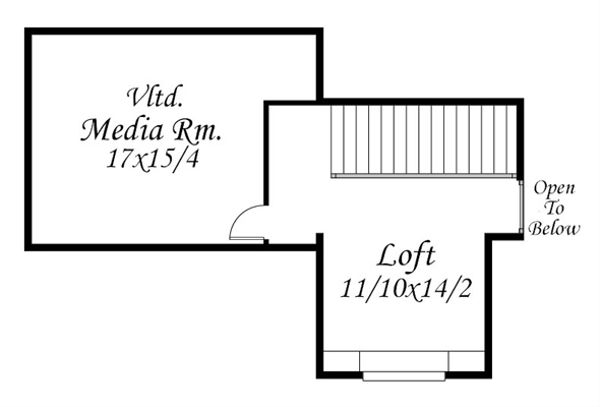 Craftsman Floor Plan - Upper Floor Plan Plan #509-4