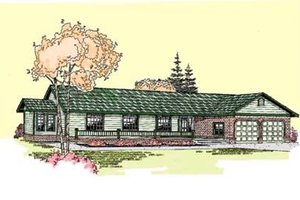 Ranch Exterior - Front Elevation Plan #60-272