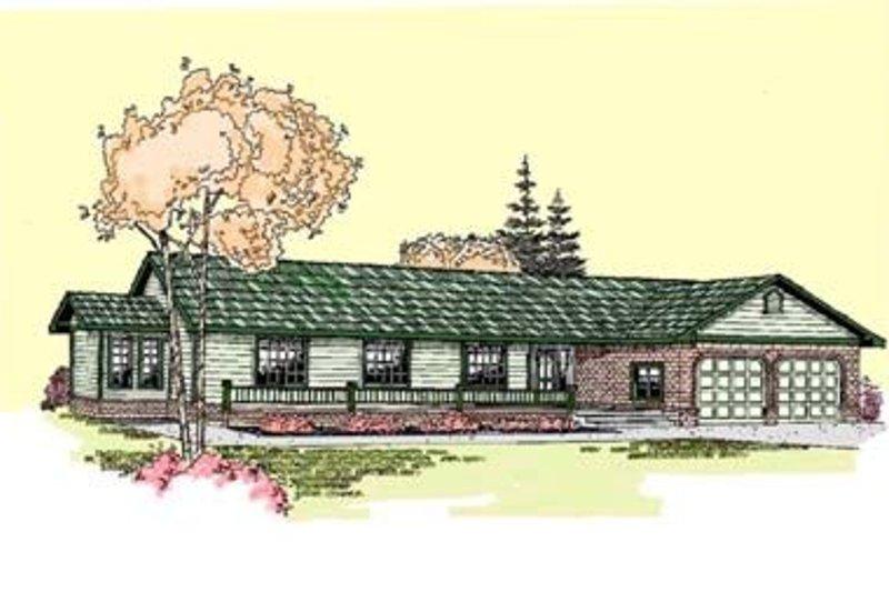 Ranch Exterior - Front Elevation Plan #60-272 - Houseplans.com
