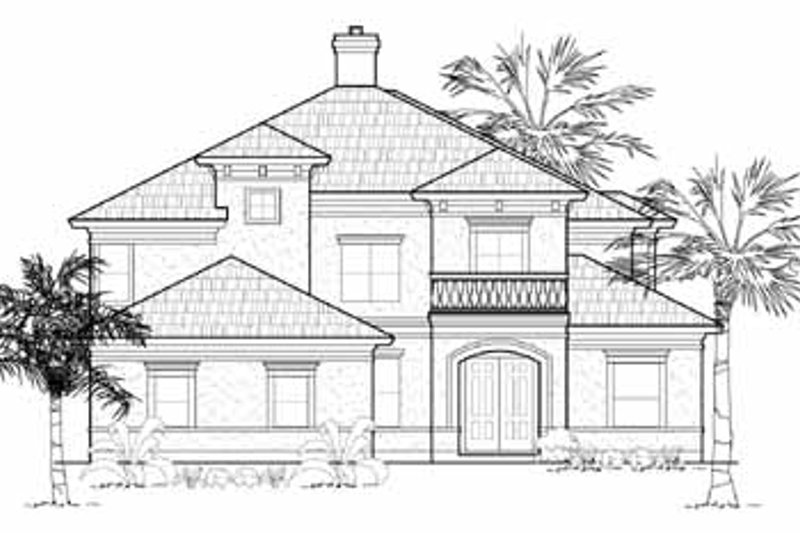European Exterior - Front Elevation Plan #61-245 - Houseplans.com