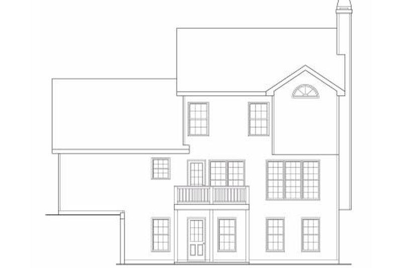 Craftsman Exterior - Rear Elevation Plan #419-122 - Houseplans.com