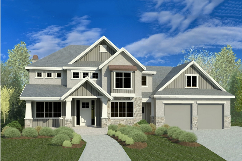 Craftsman Style House Plan - 6 Beds 4.5 Baths 2969 Sq/Ft Plan #920-36 Exterior - Front Elevation