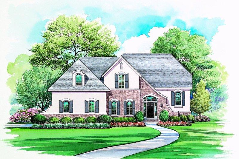 Architectural House Design - European Exterior - Front Elevation Plan #20-2164