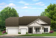Ranch Exterior - Front Elevation Plan #1058-169