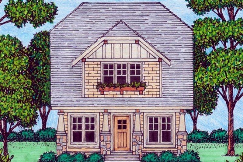 Dream House Plan - Tudor Exterior - Front Elevation Plan #413-873