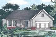 Traditional Style House Plan - 3 Beds 2 Baths 1333 Sq/Ft Plan #20-1241 Exterior - Front Elevation