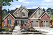 Traditional Style House Plan - 4 Beds 2.5 Baths 2546 Sq/Ft Plan #46-879 Exterior - Front Elevation