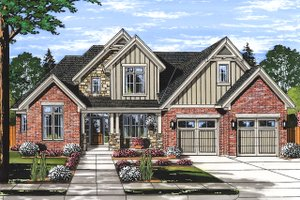 Traditional Exterior - Front Elevation Plan #46-879