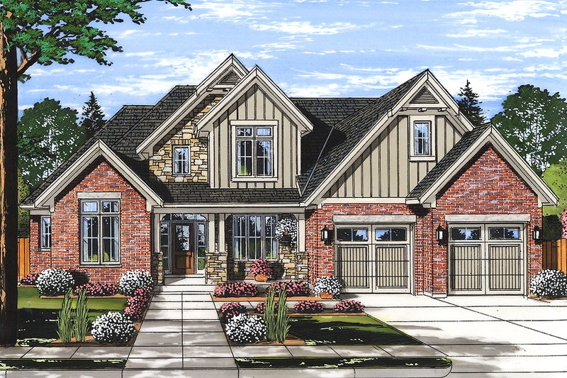 Architectural House Design - Traditional Exterior - Front Elevation Plan #46-879