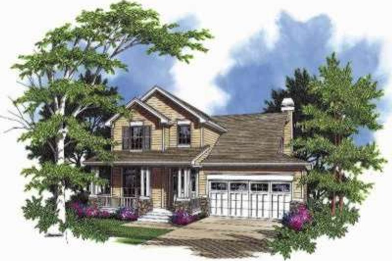 Home Plan - Traditional Exterior - Front Elevation Plan #48-171