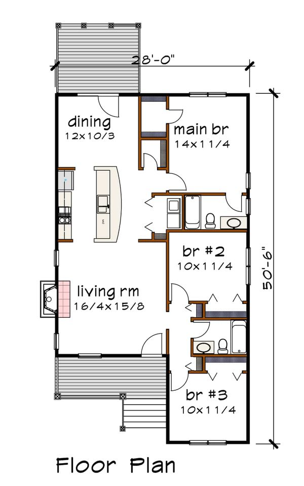 House Plan Design - Traditional Floor Plan - Main Floor Plan #79-160