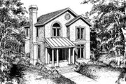 European Style House Plan - 3 Beds 2.5 Baths 2000 Sq/Ft Plan #322-102 Exterior - Front Elevation