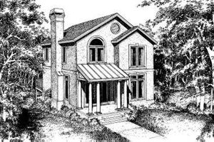 European Exterior - Front Elevation Plan #322-102