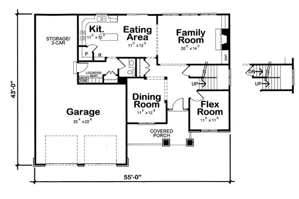 Traditional Floor Plan - Main Floor Plan Plan #20-2085