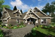 Craftsman Style House Plan - 4 Beds 3 Baths 2372 Sq/Ft Plan #51-572 Exterior - Front Elevation